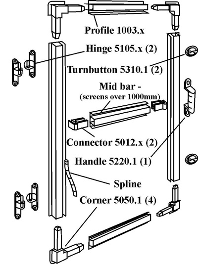 Hinged Window Flyscreen Kit Instructions